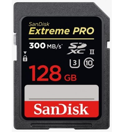Sandisk SD 128 Extreme Pro (300MB/s) UHS-II