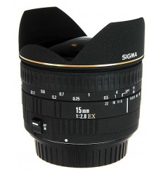 Sigma objektiv 15 mm F/2,8 EX DG FishEye, Canon