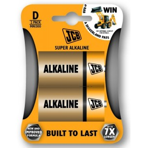 JCB alkalni bateriji D, 2 kosa