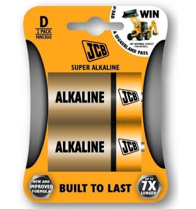 JCB alkalni bateriji D (2 kosa)
