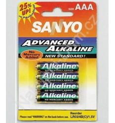 Sanyo alkalne baterije AAA (4 kosi)