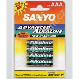 Sanyo alkalne baterije AAA, 4 kosi