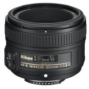Nikon objektiv 50 mm AF-S F/1,8 G + Lenspen