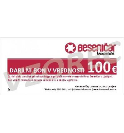 Darilni bon v vrednosti 100 EUR