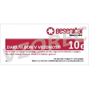 Darilni bon v vrednosti 10 EUR