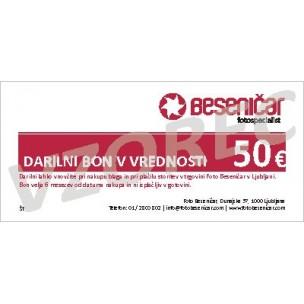 Darilni bon v vrednosti 50 EUR