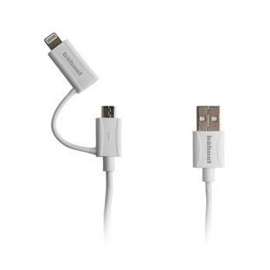 Hahnel 2v1 Sync/Charge kabel (Lightning, microUSB)