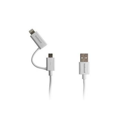 Hahnel 2v1 Sync/Charge kabel (Lightning, microUSB)